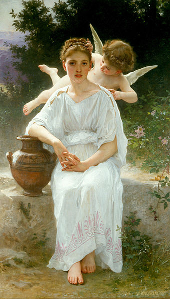 """Whisperings of Love"" by William-Adolphe Bouguereau, 1889"