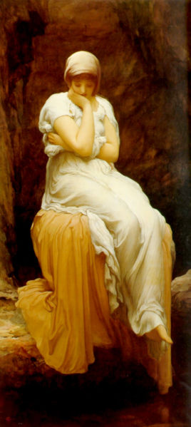 """Solitude"" by Frederic Leighton, 1890"