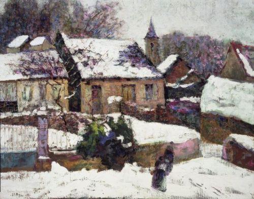 """Wet Snow, Auvergne"" by Victor Charreton, circa 1899"