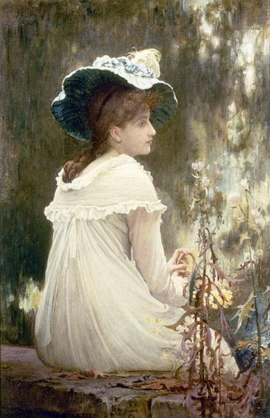 """""""Summertime"""" by Marcus Stone, circa 1900"""