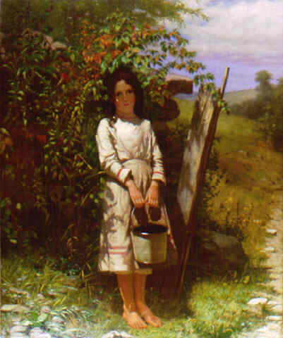 """Blackberry Picking"" by John George Brown, 1875"