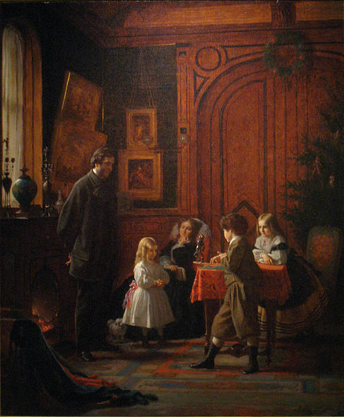 """Christmas-Time, The Blodgett Family"" by Eastman Johnson, 1864"
