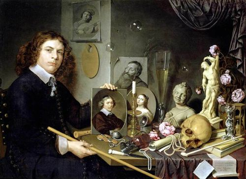 """Self-Portrait with Vanitas Symbols"" by David Bailly, 1651"