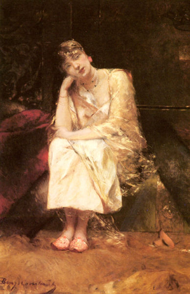 """Contemplation"" by Jean-Joseph Benjamin-Constant, 1845-1902"