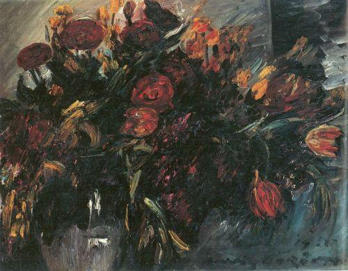"""""""Rote und gelbe Tulpen"""" by Lovis Corinth, 1918"""
