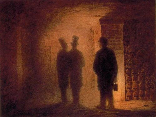 """Paris Catacombs"" by Viktor Hartmann (1834-1873)"