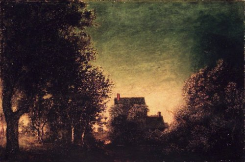 """""""Edge of the Forest"""" by Ralph Albert Blakelock, between 1880 and 1890"""