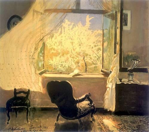 """""""Spring in Gościeradz"""" by Leon Wyczółkowski, 1933"""