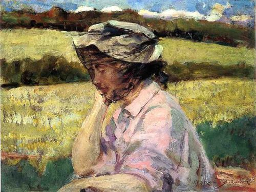 """Lost in Thought"" by James Carroll Beckwith, 1908"