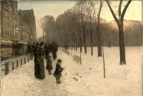 """Boston Common at Twilight"" by Childe Hassam, 1885"