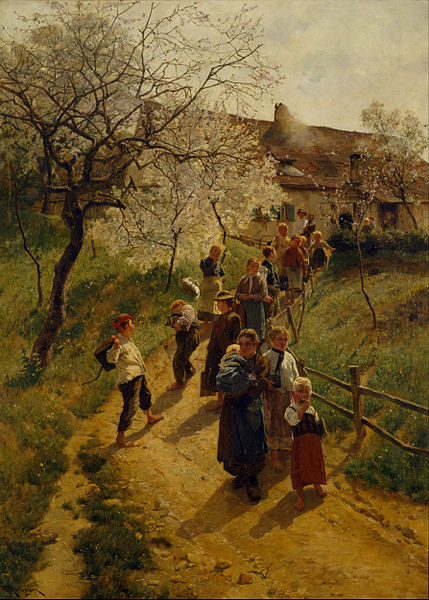 """A Spring Day"" by Friedrich Kallmorgen, 1887"