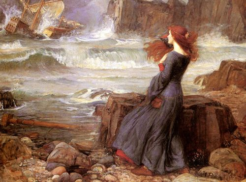 Miranda from The Tempest by John William Waterhouse, 1916