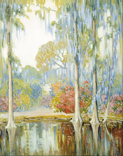 """Magnolia Gardens"" by Alfred Hutty, 1920"