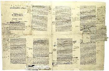 """First galley proof of Marcel Proust's """"A la recherche du temps perdu"""""""