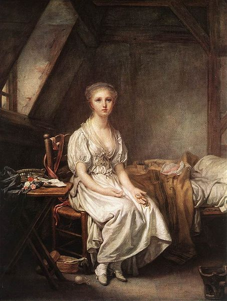 """""""The Complain of the Watch"""" by Jean-Baptiste Greuze, 1770s"""