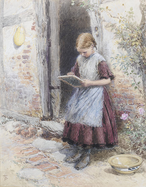"""A School Girl"" by Myles Birket Foster, 1899"