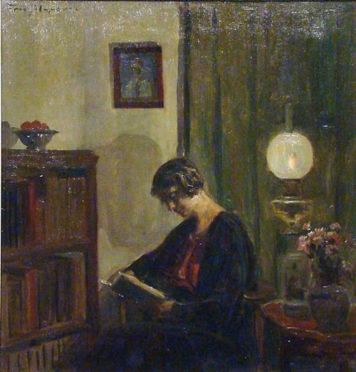 """Reading Woman"" by Poul Friis Nybo, 1929"