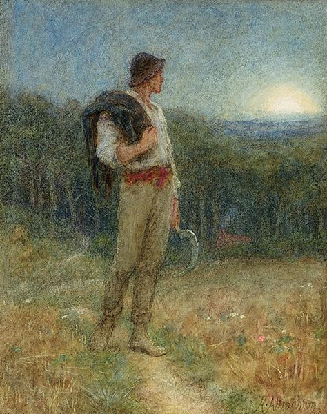 """Harvest Moon"" by Helen Allingham, 1879"