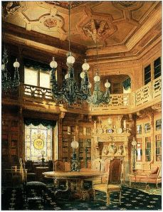 Anichkov Palace Library in St. Petersburg, 1869