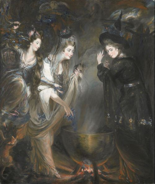 """The Three Witches from Shakespeare's Macbeth"" by Daniel Gardner, 1775"