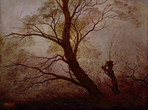 """Trees in the Moonlight"" by Carl Julius von Leypold, 1824"