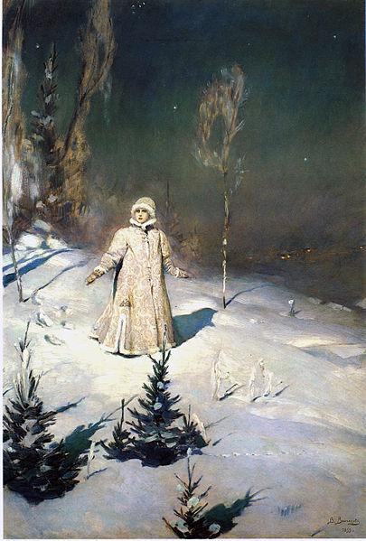 """""""Snow Maiden"""" by Viktor M. Vasnetsov, 1899"""