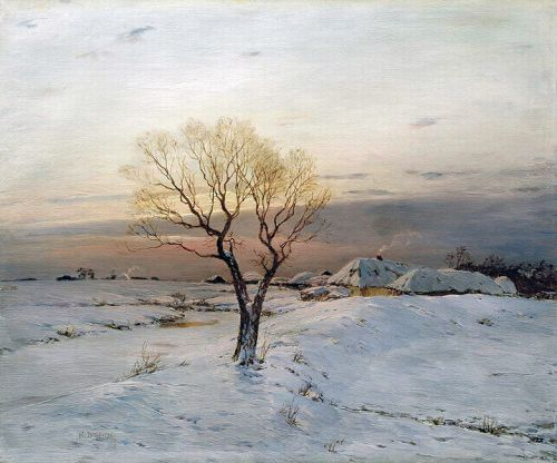 """The Frosty Morning"" by Nikolay Dubovskoy, 1894"