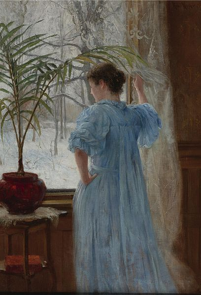 """First Snow"" by Robert Koehler, 1895"