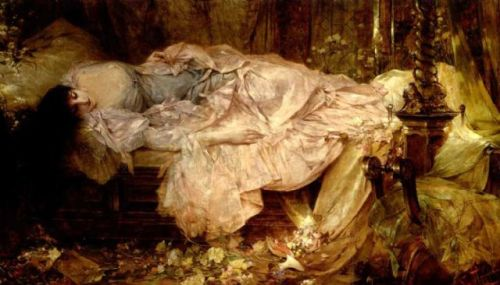 """""""Lady Sleeping"""" by Franciszek Zmurko (1859-1910)"""