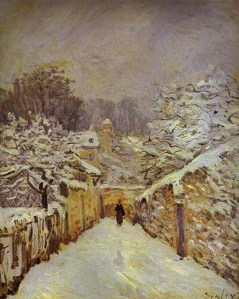 """La neige à Louveciennes (Snow at Louveciennes)"" by Alfred Sisley, 1878"