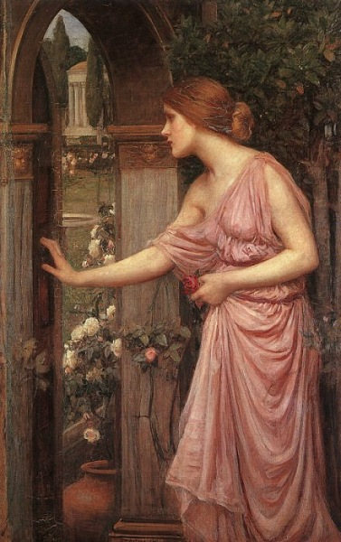 """Psyche Opening the Door into Cupid's Garden"" by John William Waterhouse, 1904"