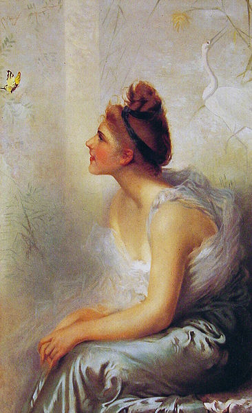 """Beauty and the Butterfly"" by Vittorio Matteo Corcos, 1933"