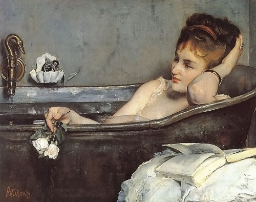 """Le Bain"" by Alfred Stevens (1823-1906)"