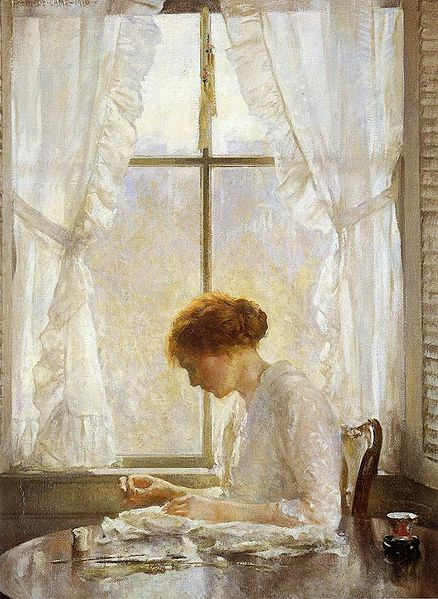 """The Seamstress"" by Joseph DeCamp, 1916"