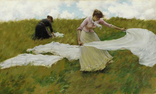 """A Breezy Day"" by Charles Courtney Curran, 1887"