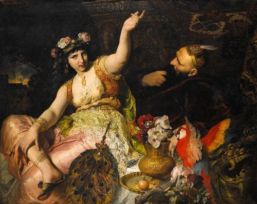 """Scheherazade and Sultan Schariar"" by Ferdinand Keller, 1880"