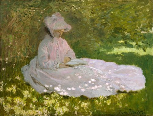 """Springtime"" by Claude Monet, 1872"