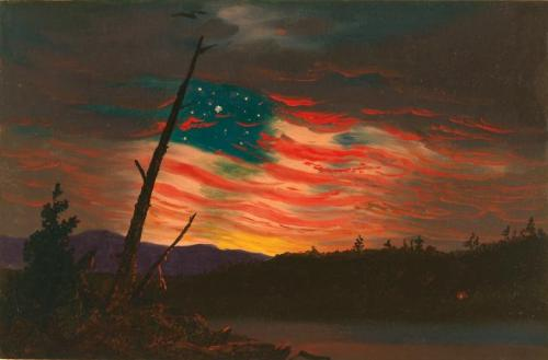 """Our Banner in the Sky"" by Frederic Edwin Church, 1861"