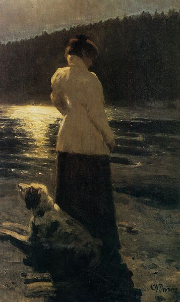 """Moonlight Night"" by Ilya Repin, 1896"