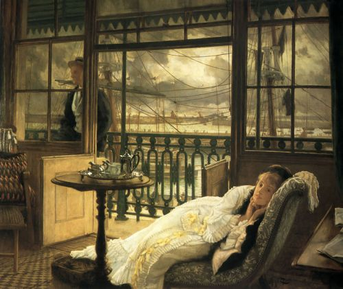 """A Passing Storm"" by James Tissot, circa 1876"