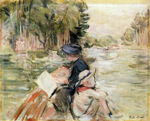 """Woman with a Child in a Boat"" by Berthe Morisot, 1892"