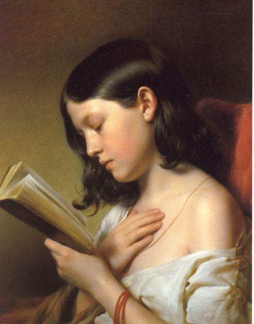 """Lesendes Mädchen"" by Franz Eybl, 1850"