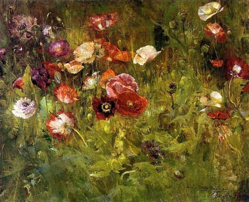 """A Bed of Poppies"" by Maria Oakey Dewing, 1909"