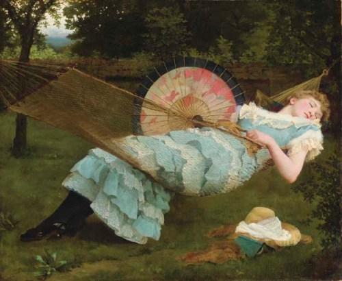 """Sweet Repose"" by Valentine Cameron Prinsep (1838-1904)"