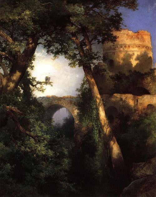 """Two Owls"" by Thomas Moran, 1917"