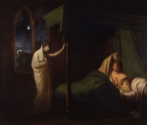"""William and Margaret from Percy's 'Reliques of Ancient English Poetry'"" by Joseph Wright of Derby, circa 1785"