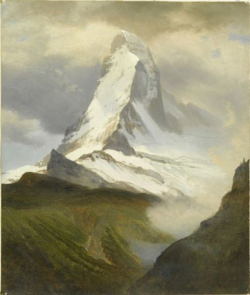 """The Matterhorn"" by Albert Bierstadt (1830-1902)"