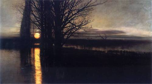 """Moonrise"" by Stanislaw Maslowski, 1884"
