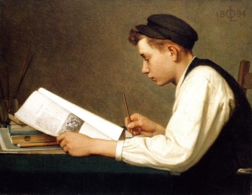 """The Young Student"" by Ozias Leduc, 1894"