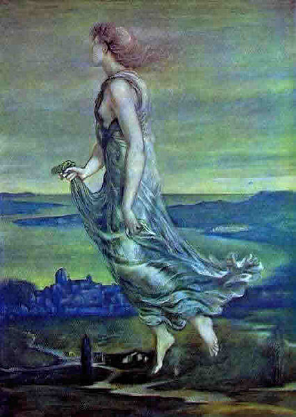 """The Evening Star"" by Edward Burne-Jones, 1870"